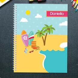 Fun at the Beach Kids Notebook