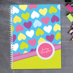 Happy Hearts Notebook