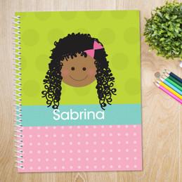 Just Like Me-Girl-Green Kids Notebook