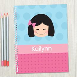 Just Like Me-Girl-Lite Blue Kids Notebook
