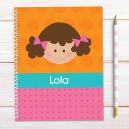 Just Like Me-Girl-Orange Kids Notebook