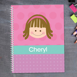 Just Like Me-Girl-Pink Kids Notebook
