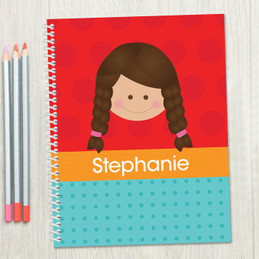 Just Like Me-Girl-Red Kids Notebook