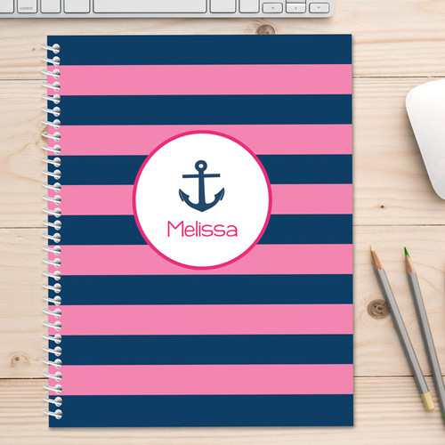 Let's Sail Pink Kids Notebook