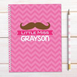 Little Miss Mustache Kids Notebook