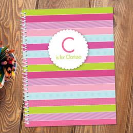 Pastel Stripes Kids Notebook