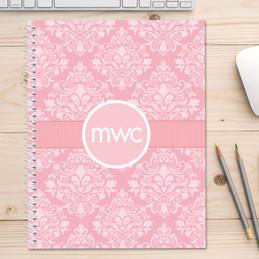 Pink Sweet Damask Kids Notebook
