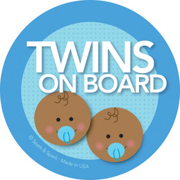 On Board Sign - Afr. Amer. Twin Boys