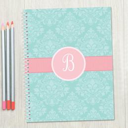 Pretty Blue Damask Kids Notebook