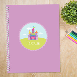 Pretty Heart Castle Kids Notebook