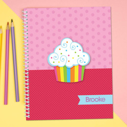 Rainbow Cupcake Kids Notebook