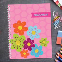 Shiny Bold Flowers Kids Notebook