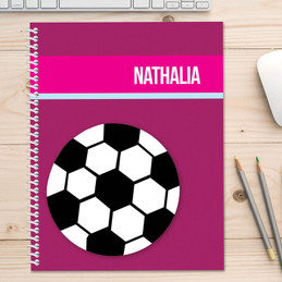 Girl Soccer Fan Purple Kids Notebook