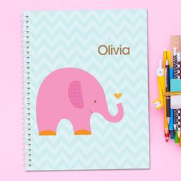Sweet Pink Elephant Kids Notebook