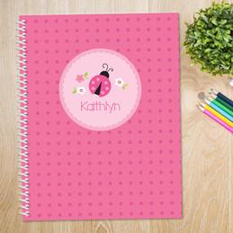 Sweet Pink Ladybug Kids Notebook