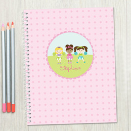 Three Cheerleaders Kids Notebook