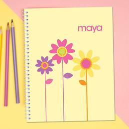 Three Spring Blooms Kids Notebook
