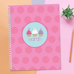 Three Sweet Cupcakes Notebook