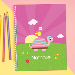 Turtle and Happy Bird Kids Notebook