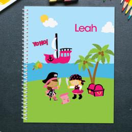 Yo-Ho Pirate Girl Kids Notebook