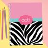 Zebra and Pink Kids Notebook