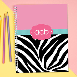 Zebra and Pink Kids Notebook