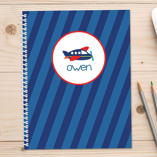 little plane personalized notebook for kids