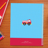 cool firetruck personalized notebook for kids