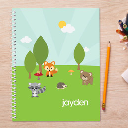 Cute Animals in the Forest Kids Notebook