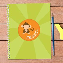 Cute Baby Monkey Kids Notebook