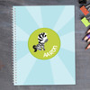 cute baby zebra personalized notebook for kids