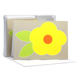 Cute Flower Yellow Notecards
