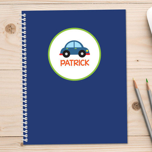 cute little car personalized notebook for kids