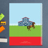 cute race horse personalized notebook for kids