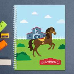Cute Race Horse Kids Notebook