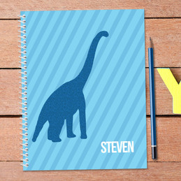 Dino and Me - Blue Kids Notebook