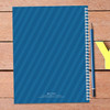 blue dinosaur personalized notebook for kids