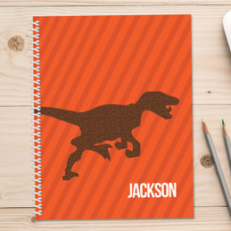 Dino and Me Orange Kids Notebook