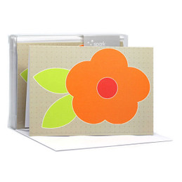 Cute Flower Orange Notecards