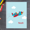 little plane flying personalized notebook for kids
