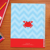 happy crab personalized notebook for kids