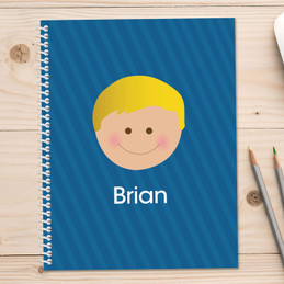 just like me blue personalized notebook for kids
