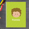 just like me green personalized notebook for kids