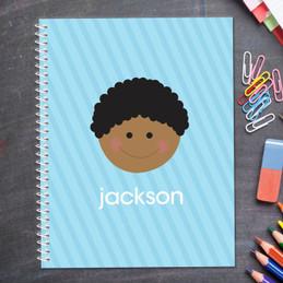 Just Like Me Boy Light Blue Kids Notebook