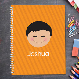 just like me orange personalized notebook for kids