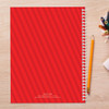 just like me red personalized notebook for kids