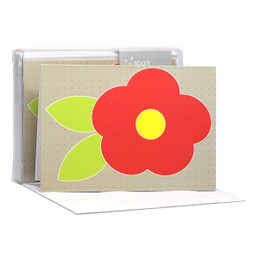 Cute Flower Red Notecards