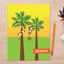 monkeys in the jungle personalized notebook for kids