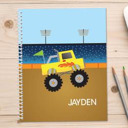 Monster Truck Kids Notebook