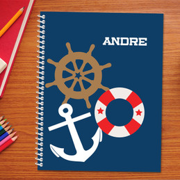 nautical personalized notebook for kids